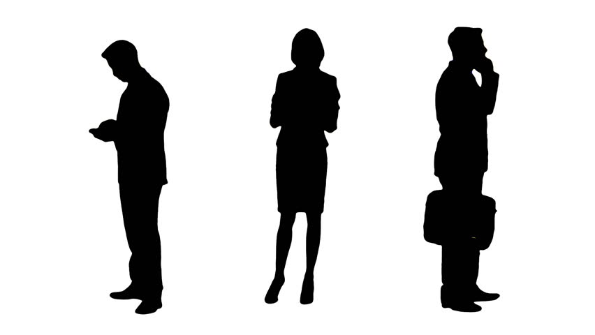 Multiple Silhouettes of Busy Business : video stock a tema (100% royalty free) 6347789 | Shutterstock